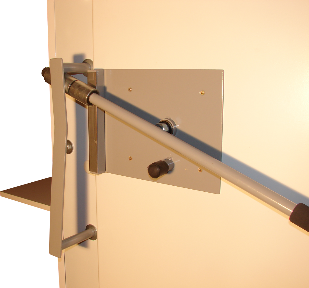 Foto de cerradura de cerca de la cabina sonoamortiguada CB-70