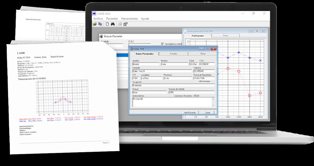 Foto de Software LADIE SGA, sistema de gestión de datos audiológicos y pacientes